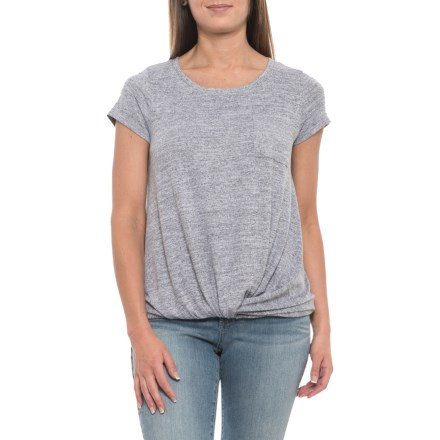 0cf57daf25 Cupio Blush Twisted Front Pocket T-Shirt - Short Sleeve (For Women) in
