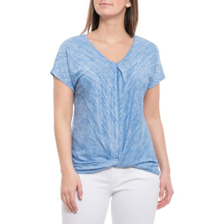 ccccaa49fa18e9 Cupio Blush Twisted T-Shirt - Short Sleeve (For Women) in Royal Breeze