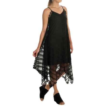 Cupio Lace Tank Dress - Spaghetti Straps (For Women) in Black - Overstock