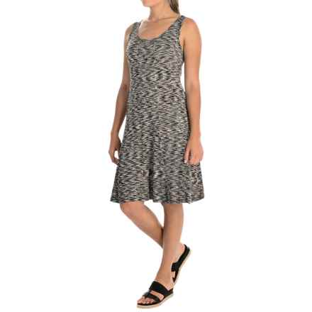 Cupio Space-Dyed Dress - Sleeveless (For Women) in Black/White - Overstock
