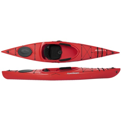 "Current Designs Kestrel 120X Rotomolded Recreational Kayak - 12'6"" in Yellow"