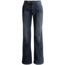 Curvy Denim Trouser Pants (For Women) in Dark Wash - 2nds