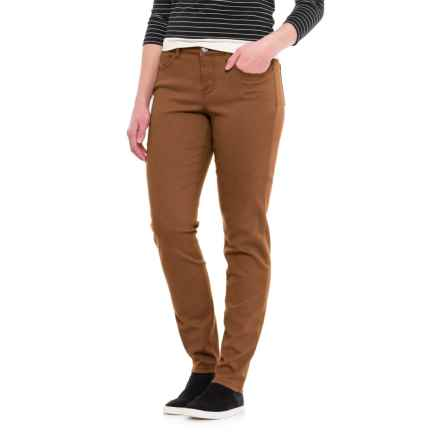Curvy Five-Pocket Skinny Jeans (For Women) in Light Brown - 2nds