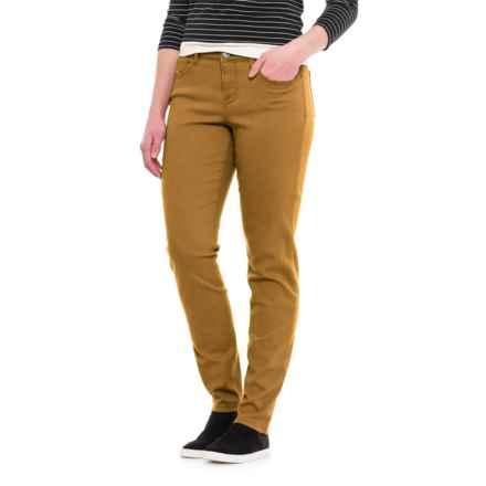 Curvy Five-Pocket Skinny Jeans (For Women) in Mustard - 2nds