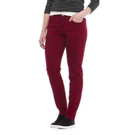 Curvy Five-Pocket Skinny Jeans (For Women) in Red Rose - 2nds