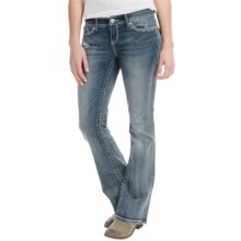 Curvy Studded Jeans - Bootcut (For Women) in Medium Denim - 2nds