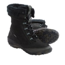 Cushe Allpine Cone Leather Boots - Waterproof, Insulated (For Women) in Black Leather - Closeouts