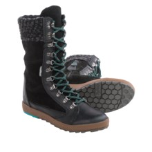 Cushe Boho Chill Boots - Hidden Wedge Heel, Leather (For Women) in Black - Closeouts