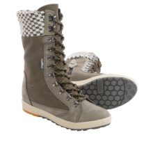 Cushe Boho Chill Boots - Hidden Wedge Heel, Leather (For Women) in Grey - Closeouts