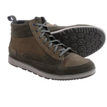 Cushe Burnside Leather Mid Shoes (For Men) in Dark Grey - Closeouts