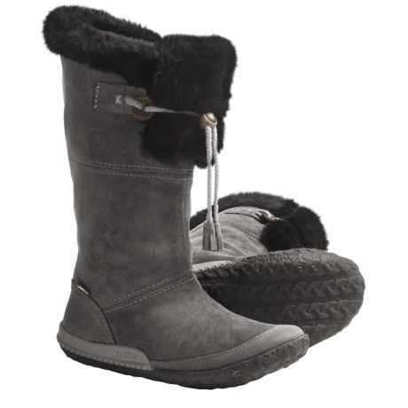 Cushe Cabin Fever Boots - Waterproof,  Leather (For Women) in Charcoal Suede