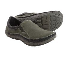 Cushe Dawn Patrol Slipper Shoes - Slip-Ons (For Men) in Dark Grey/Grey Felt - Closeouts