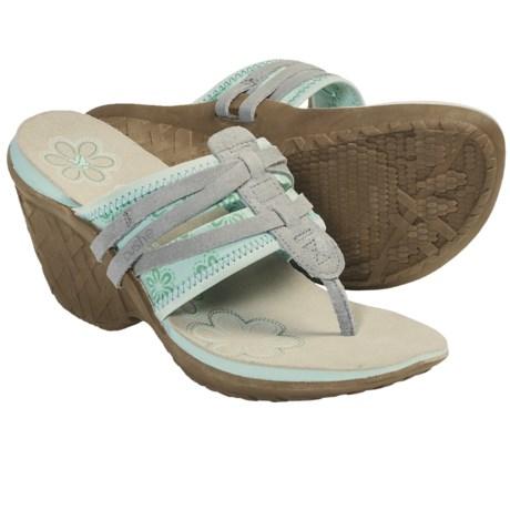 Cushe Entwine Wedge Sandals (For Women) in Aqua