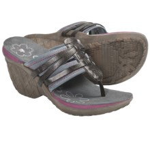 Cushe Entwine Wedge Sandals (For Women) in Black - Closeouts
