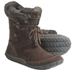 Cushe Fireside Boots - Waterproof, Leather (For Women) in Charcoal Suede