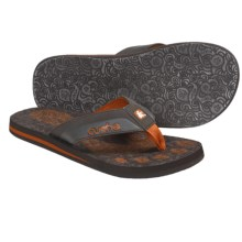 Cushe Forensic Flop Thong Sandals (For Men) in Brown/Orange - Closeouts