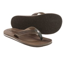 Cushe Fresh Leather Flip-Flops (For Men) in Grey - Closeouts