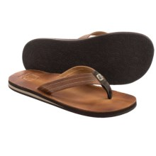 Cushe Fresh Leather Flip-Flops (For Men) in Tan - Closeouts