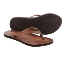 Cushe Fresh Leather Flip-Flops (For Women) in Brown - Closeouts