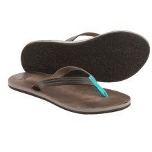 Cushe Fresh Leather Flip-Flops (For Women) in Grey - Closeouts