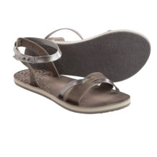 Cushe Fresh Twist Sandals - Leather (For Women) in Dark Grey/Silver - Closeouts