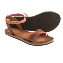 Cushe Fresh Twist Sandals - Leather (For Women) in Tan/Papaya - Closeouts