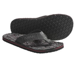 Cushe Hi Honey Thong Sandals (For Men) in Black/Grey/Red