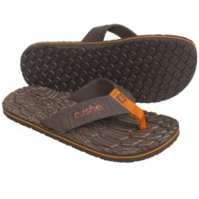Cushe Hi Honey Thong Sandals (For Men) in Brown/Orange - Closeouts
