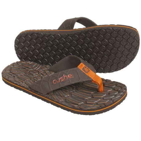 Cushe Hi Honey Thong Sandals (For Men) in Brown/Orange