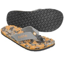 Cushe Hi Honey Thong Sandals (For Men) in Grey/Orange - Closeouts