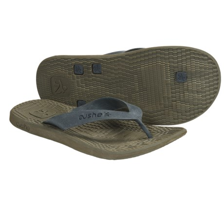 Cushe Manuka Fossil-Flop Sandals - Flip-Flops (For Men) in Black