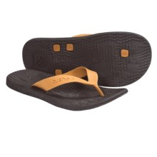 Cushe Manuka Fossil-Flop Sandals - Flip-Flops (For Men) in Chocolate/Orange - Closeouts
