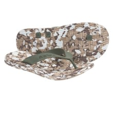 Cushe Manuka Fossil-Flop Sandals - Flip-Flops (For Men) in Desert Camo - Closeouts
