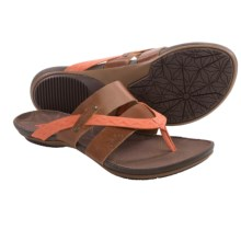 Cushe Radiance Thong Sandals - Leather (For Women) in Tan/Papaya - Closeouts