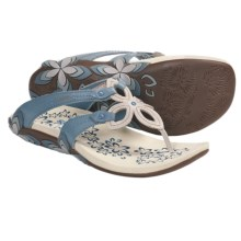 Cushe Shasta Sandals - Leather (For Women) in Blue - Closeouts