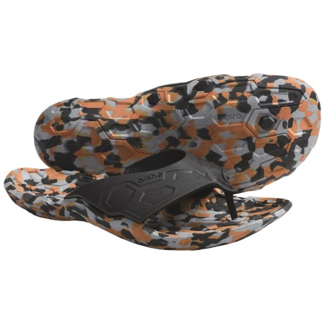Cushe Skunkworx Sandals - Flip-Flops, Recycled Materials (For Men) in Black/Orange Camo