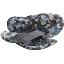 Cushe Skunkworx Sandals - Flip-Flops, Recycled Materials (For Men) in Grey/Blue Camo - Closeouts