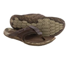 Cushe Tropez Flip-Flops - Leather (For Men) in Brown - Closeouts