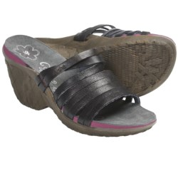 Cushe Weave Sandals - Leather, Wedge Heel (For Women) in Grey