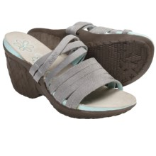 Cushe Weave Sandals - Leather, Wedge Heel (For Women) in Grey - Closeouts