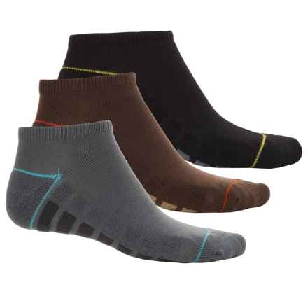 Cushioned No-Show Socks - 3-Pack, Below the Ankle (For Big Boys) in Black/Gray/Brown - Overstock