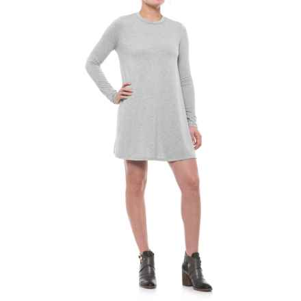 Cutout Back Knit Dress - Long Sleeve (For Women) in Grey - 2nds