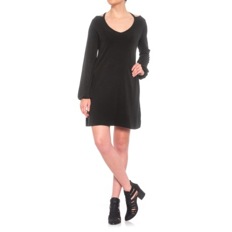 Image of Cutout Detail Dress - Long Sleeve (For Women)