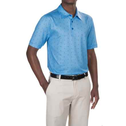 Cutter & Buck Dobby Gingham Print Polo Shirt - UPF 50+, Short Sleeve (For Men) in Wire Blue - Closeouts