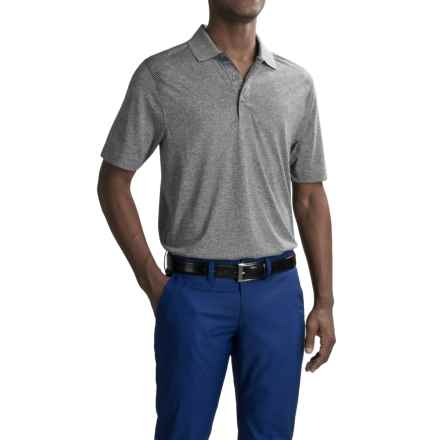 Cutter & Buck Leader Print Polo Shirt - Short Sleeve (For Men) in Heathered Gravel - Closeouts