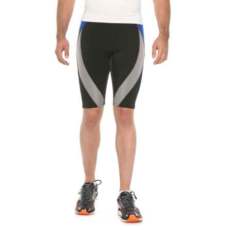 CW-X Endurance Generator Shorts - UPF 50 (For Men) in Black/Grey/Blue - Closeouts