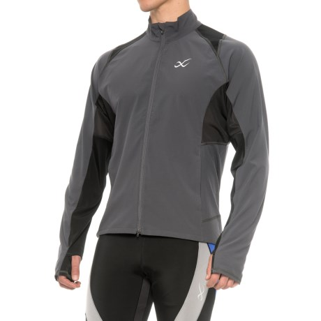 CW-X Endurance Run Jacket - UPF 60+ (For Men) in Charcoal
