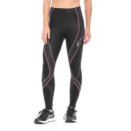 CW-X Insulator Endurance Pro Tights (For Women) in Black/Soft Pink - Closeouts