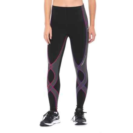 CW-X Insulator Stabilyx Tights (For Women) in Black/Purple Gradation - Closeouts