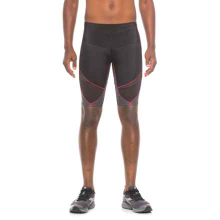 CW-X Stabilyx Ventilator Shorts - Compression Fit (For Men) in Black/Grey/Red - Closeouts